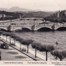 Postales: SAN SEBASTIÁN - PUENTE DE SANTA CATALINA - ED. MANIPEL - SELLO VII FESTIVAL INTERNACIONAL DE CINE . Lote 183006303