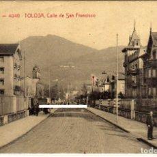 Postais: POSTAL DE TOLOSA (GUIPUZCOA) - CALLE DE SAN FRANCISCO . Lote 183028215