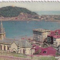Postales: SAN SEBASTIÁN - VISTA PARCIAL DESDE ALDAPETA (NO. 14) - FOTOCOLOR - SELLO X FESTIVAL DE CINE 1962. Lote 183169040