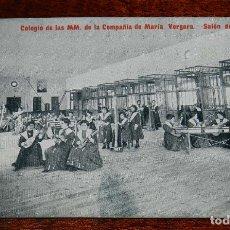 Postales: POSTAL DEL COLEGIO DE LAS MM. DE LA COMPAÑIA DE MARIA. VERGARA (GUIPUZCOA), SALON DE MUSICA, ED, LA . Lote 183308820