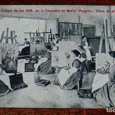 Postales: POSTAL DEL COLEGIO DE LAS MM. DE LA COMPAÑIA DE MARIA. VERGARA (GUIPUZCOA), CLASE DE PINTURA, ED, LA. Lote 183309100