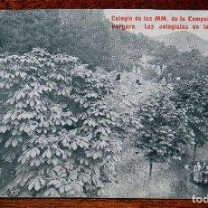 Postales: POSTAL DEL COLEGIO DE LAS MM. DE LA COMPAÑIA DE MARIA. VERGARA (GUIPUZCOA), LAS COLEGIALAS EN LA PLA. Lote 183311433