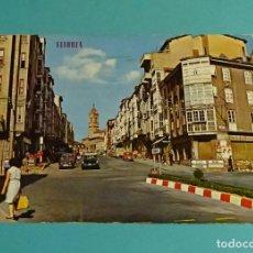 Postales: VITORIA. CALLE PORTAL DEL REY. AL FONDO, SAN VICENTE. EDICIONES PARÍS. Lote 183329386