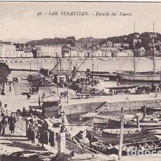 Postales: SAN SEBASTIAN DETALLE DEL PUERTO ED. GREGORIO G. GALARZA Nº 36. Lote 183359892