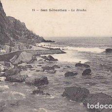 Postales: SAN SEBASTIAN LA BRECHA ED. J. LATIEULE Nº 14 REVERSO SIN DIVIDIR. Lote 183461763