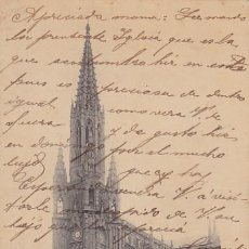 Postales: SAN SEBASTIAN IGLESIA DEL BUEN PASTOR ED. J. LATIEULE Nº 43 REVERSO SIN DIVIDIR. Lote 183462206