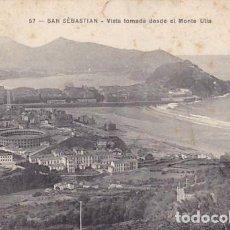 Postales: SAN SEBASTIAN VISTA TOMADA DESDE MONTE ULIA ED. J. LATIEULE Nº 57 REVERSO SIN DIVIDIR. Lote 183462436
