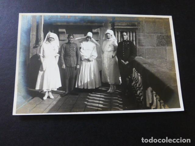 SAN SEBASTIAN HOSPITAL DE LA CRUZ ROJA MONJA ENFERMERAS Y HERIDOS DE LA GUERRA DE MARRUECOS (Postales - España - Pais Vasco Antigua (hasta 1939))