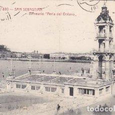 Postales: SAN SEBASTIAN BALNEARIO PERLA DEL OCEANO ED. CASTAÑEIRA Y ALVAREZ Nº 880. Lote 183662652