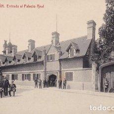 Postales: SAN SEBASTIAN ENTRADA AL PALACIO REAL ED. FOTOTIPIA THOMAS Nº 2258. Lote 183664636