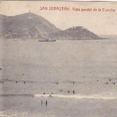 Postales: SAN SEBASTIAN VISTA PARCIAL DE LA CONCHA ED. FOTOTIPIA THOMAS Nº 2252. Lote 183665425