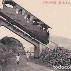 Postales: SAN SEBASTIAN FUNICULAR DE IGUELDO ED. FOTOTIPIA THOMAS Nº 2981. Lote 183693890