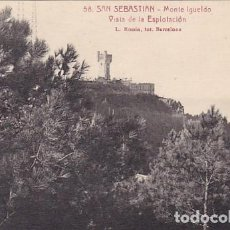 Postales: SAN SEBASTIAN MONTE IGUELDO VISTA DE LA ESPLOTACION ED. L ROISIN FOT. Nº 58. Lote 183696406