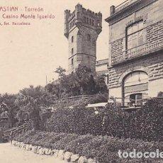 Postales: SAN SEBASTIAN TORREON FACHADA LATERAL DEL CASINO MONTE IGUELDO ED. L ROISIN FOT. Nº 51. Lote 183696877