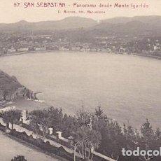 Postales: SAN SEBASTIAN PANORAMA DESDE MONTE IGUELDO ED. L ROISIN FOT. Nº 57. Lote 183697181