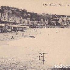 Postales: SAN SEBASTIAN LA CONCHA ED. E.J.G. PARIS IRUN REVERSO SIN DIVIDIR. Lote 183698055