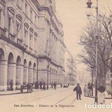 Postales: SAN SEBASTIAN PALACIO DE LA DIPUTACION ED. E.J.G. PARIS IRUN REVERSO SIN DIVIDIR. Lote 183698201