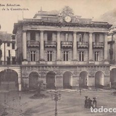 Postales: SAN SEBASTIAN PLAZA DE LA CONSTITUCION ED. E.J.G. PARIS IRUN . Lote 183698518