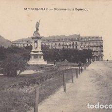 Postales: SAN SEBASTIAN MONUMENTO A OQUENDO ED. E.J.G. PARIS IRUN . Lote 183698673