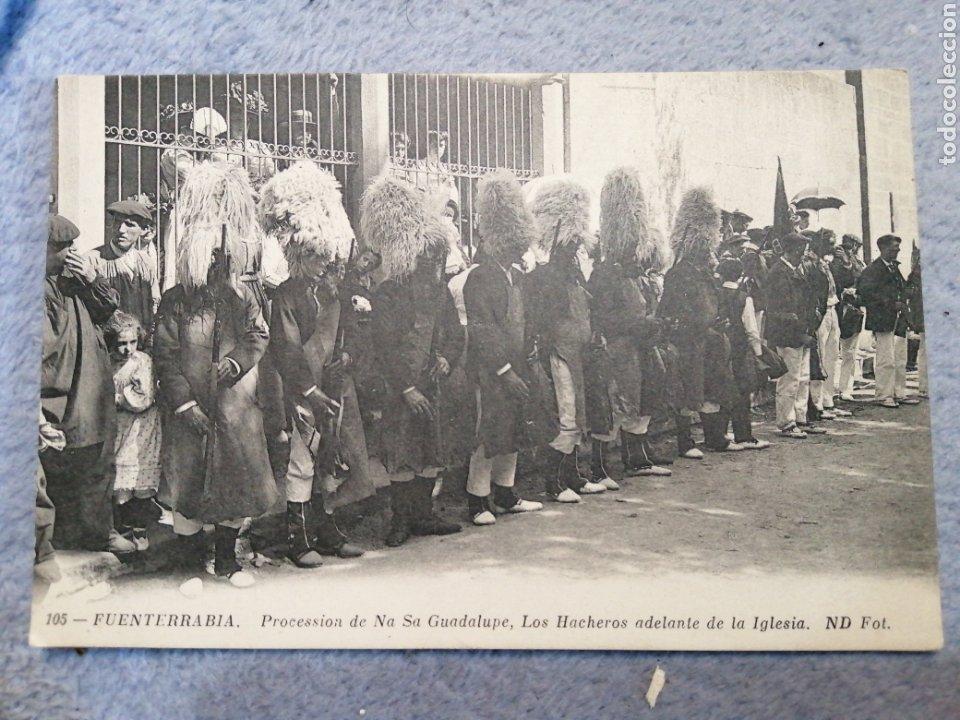FUENTERRABÍA PROCESIÓN DE NUESTRA SEÑORA GUADALUPE (Postales - España - Pais Vasco Antigua (hasta 1939))