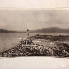 Postales: BAYONA. POSTAL NO.1506, VIRGEN DE LA ROCA Y MONTE REAL. EDITA: UNIQUE (A.1931) CIRCULADA. Lote 183864395
