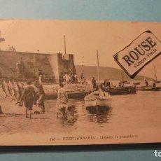 Postales: 140 FUENTERRABIA - LLEGADA DE LOS PESCADORES M.D.- 14X9 CM. . Lote 183899947
