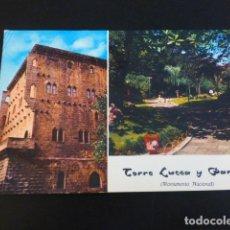Postales: ZARAUZ GUIPUZCOA TORRE LUCEA Y PARQUE. Lote 184018931