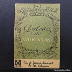Postales: 12 POSTALES GRABADOS DE WILKINSON PAIS VASCO SIGLO XIX CAJA DE AHORROS MUNICIPAL DE SAN SEBASTIAN . Lote 184809756