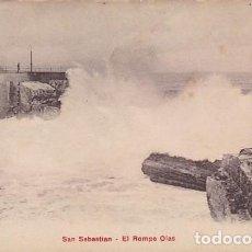Postales: GUIPUZCOA SAN SEBASTIAN EL ROMPE OLAS ED.P. Z. Nº 10457 . Lote 187516843