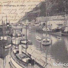 Postales: GUIPUZCOA SAN SEBASTIAN EL PUERTO ED. LATIEULE Nº 28. Lote 187518548