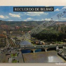 Postales: BILBAO, POSTAL RIA Y PUENTE VICTORIA, NUMERO 7201. Lote 189238740
