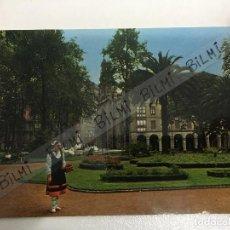 Postales: BILBAO, POSTAL DE LOS JARDINES DE ALBIA E IGLESIA DE SAN VICENTE, NUMERO 7404. Lote 189240112