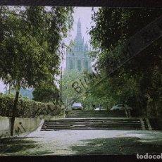 Postales: BILBAO, POSTAL ESCALERAS A LA BASILICA DE BEGOÑA, . Lote 189275416