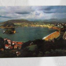 Postales: SAN SEBASTIAN - VISTA GENERAL DESDE IGUELDO. ILUMINADA - CIRCULADA. Lote 190625097