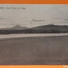 Postales: FUENTERRABIA (GUIPÚZCOA). HOTEL PEÑÓN Y LA PLAYA.. Lote 190708587