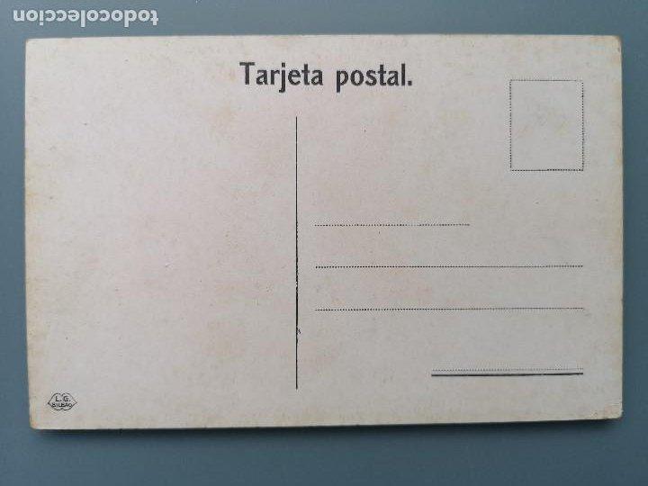 Postales: POSTAL BILBAO PASEO DE LOS CAÑOS LA PEÑA BOLUETA ED L.G. VIZCAYA CIRCUL 1912 PERFECTA CONSERVAC - Foto 2 - 191144628