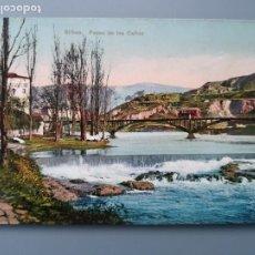 Postales: POSTAL BILBAO PASEO DE LOS CAÑOS LA PEÑA BOLUETA ED L.G. VIZCAYA CIRCUL 1912 PERFECTA CONSERVAC. Lote 191144628