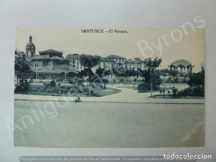 POSTAL ANTIGUA. EL PARQUE. SANTURCE. VIZCAYA (Postales - España - Pais Vasco Antigua (hasta 1939))