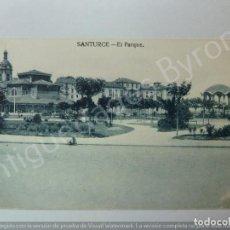 Postales: POSTAL ANTIGUA. EL PARQUE. SANTURCE. VIZCAYA. Lote 191153745