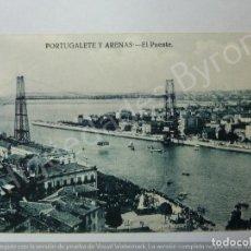 Postales: POSTAL ANTIGUA. PORTUGALETE Y ARENAS. EL PUENTE. VIZCAYA. Lote 191266735