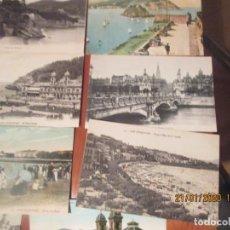 Postales: SAN SEBASTIAN -LOTE DE 14 POSTALES ANTIGUAS SIN ESCRIBIR Y NUEVAS. Lote 191629150