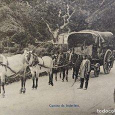 Cartes Postales: ALREDEDORES DE IRUN-CAMINO DE IRLENDANSA-SELLO TAMPON ESTAFETA DE CAMBIO-EJG-POSTAL ANTIGUA-(66.659). Lote 191651268