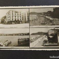 Postales: ZARAUTZ-ZARAUZ-HOTEL EGUZKI-PLAYA-PUERTO-POSTAL FOTOGRAFICA ANTIGUA-(66.725). Lote 191739735