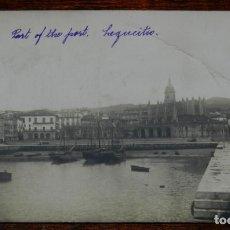 Postales: FOTO POSTAL DEL PUERTO DE LEQUEITIO, VIZCAYA, FOTO CASA LUX, BILBAO, NO CIRCULADA. ESCRITA.. Lote 192326388