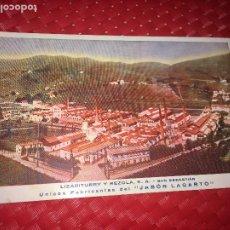 Postales: LIZARITURRY Y REZOLA, S. A. - SAN SEBASTIAN - FÁBRICA JABÓN LAGARTO - AÑOS 30. Lote 192506858