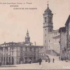 Postales: VITORIA (ALAVA) - CUESTA DE SAN VICENTE. Lote 192765041