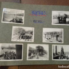 Postales: LOTE 7 FOTOGRAFIAS1926 GRUPO DE INGENIEROS DE CAMINOS. FOTOS DE 6,50 X 6 CM BILBAO. Lote 193987076
