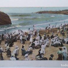 Postales: BIARRIZ - SIGLO XIX PLAYA. Lote 194110993