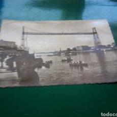 Postales: ANTIGUA POSTAL DE PORTUGALETE (VIZCAYA). PUENTE COLGANTE O DE VIZCAYA. AÑOS 50. Lote 194198218