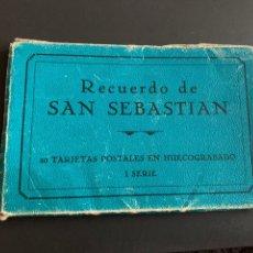 Postales: BLOC( 20 POSTALES ) RECUERDO DE SAN SEBASTIÁN HUECOGRABADO. 1 SERIE. Lote 194216208